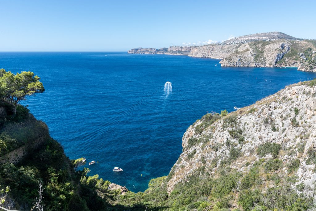 Sea view from a villa in Javea